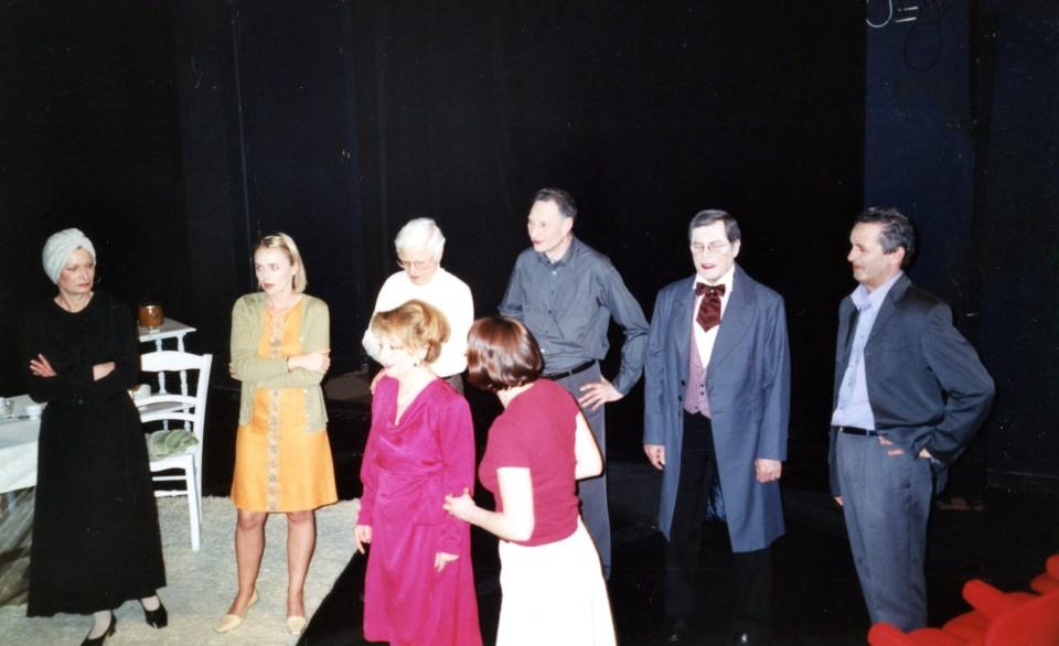 Dernier filage au théâtre : F. GAUFFRE, F. DESBONNETS, L. VERNIER devant M. FLIZET, JC. PERRIER, D. MARTY & P. OUDOT